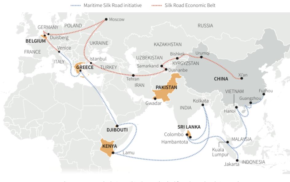 Maritime Silk Road - OBOR - Source:Reuters